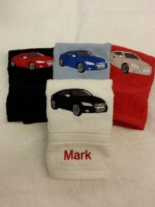AUDI TT PERSONALISED FACE CLOTH - Car